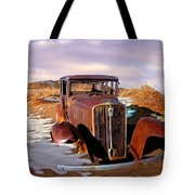 Abandoned For Almost 100 Years On Route 66 Tote Bag
