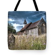 Abandoned Grave In The Churchyard Tote Bag