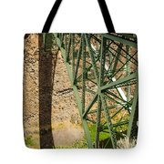 Abandoned Highway Vertical Tote Bag