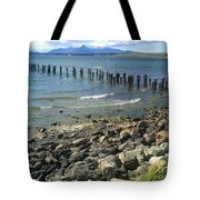Abandoned Old Pier In Puerto Natales Chile Tote Bag