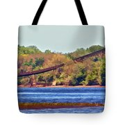 Abandoned On The Delaware River Tote Bag