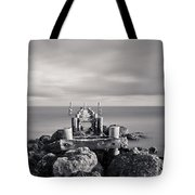 Abandoned Pier Tote Bag by Adam Romanowicz