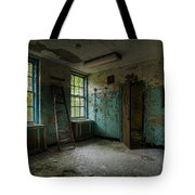 Abandoned Places - Asylum - Old Windows - Waiting Room Tote Bag