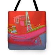 Abandoned Red Fishing Trawler Tote Bag