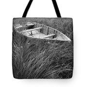 Abandoned Row Boat Along The Shoreline On Prince Edward Island Tote Bag