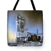 Abandoned Slaughterhouse In Winter Tote Bag