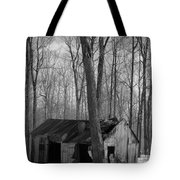 Abandoned Sugar Shack In Black And White Tote Bag