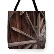 Abandoned Wagon Wheel Tote Bag