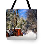 Abandoned Winter Tractor Tote Bag