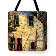Abandoned Yellow House Tote Bag