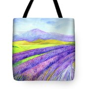 Abbey Fields At Senanque Tote Bag