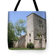 Abbey Ruin - Burgundy Tote Bag