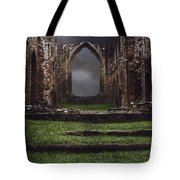 Abbey Steps Tote Bag by Amanda Elwell