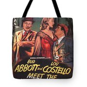 Abbott And Costello Meet The Invisible Man  Tote Bag