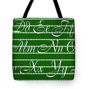 Abc 123 Green Tote Bag