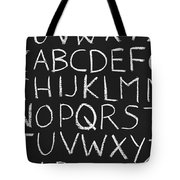 Abc On A Chalkboard Tote Bag