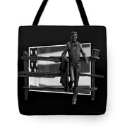 Abe Lincoln In Black And White Tote Bag