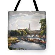 Abingdon Bridge And Church, Engraved Tote Bag