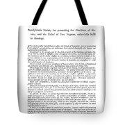 Abolition, 1789 Tote Bag