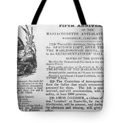 Abolition Meeting, 1837 Tote Bag