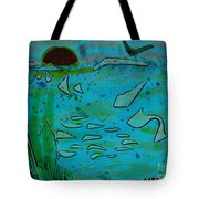 Above And Beneath The Sea Tote Bag