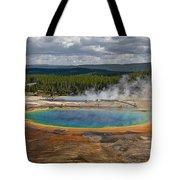 Above Grand Prismatic Tote Bag