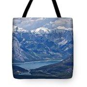 Above Lake Minnewanka #2 Tote Bag