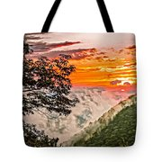 Above The Clouds - Paint Tote Bag