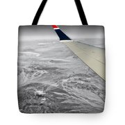 Above The Clouds Wing Tip View Sc Tote Bag