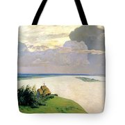 Above The Eternal Peace Tote Bag by Isaak Ilyich Levitan