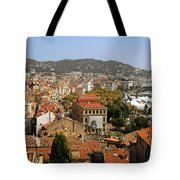 Above The Roofs Of Cannes Tote Bag by Christine Till