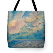 Above The Sun Splashed Clouds Tote Bag
