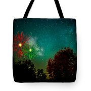 Above The Trees Below The Stars Celebration  Tote Bag