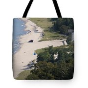 Above View Of Empires Beach Tote Bag