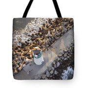 Above Walton Lighthouse Tote Bag