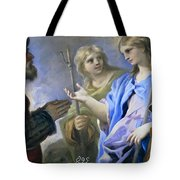 Abraham And The Three Angels Tote Bag