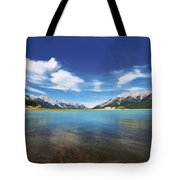 Abraham Lake Alberta Canada Tote Bag