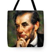 Abraham Lincoln - Abstract Realism Tote Bag