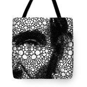 Abraham Lincoln - An American President Stone Rock'd Art Print Tote Bag by Sharon Cummings