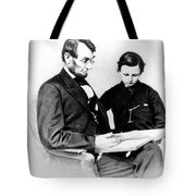 Abraham Lincoln And Tad Tote Bag