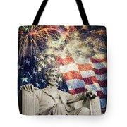 Abraham Lincoln Fireworks Tote Bag