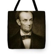 Abraham Lincoln Tote Bag by Francis Bicknell Carpenter