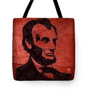 Abraham Lincoln License Plate Art Tote Bag