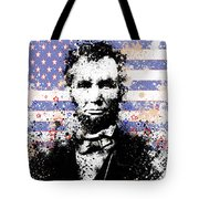 Abraham Lincoln Pop Art Splats Tote Bag by Bekim Art