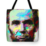 Abraham Lincoln Portrait - Abstract Tote Bag