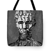Abraham Lincoln Quote Original Typography Black And Whte Tote Bag
