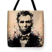 Abraham Lincoln Splats Color Tote Bag