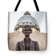 Abraham Lincoln Statue At Illinois State Capitol Tote Bag by Paul Velgos