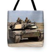 Abrams M1a1 Main Battle Tank Tote Bag