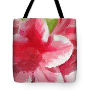 Abstract 106 Pink Painterly Flowers Tote Bag